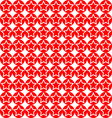 seamless star on red circle pattern background vector image vector image