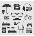 Set for hipster vector image vector image