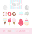 Set of cute elements vector image vector image