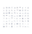 set simple icons travel vector image vector image
