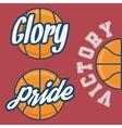 set three basketball team logo with ball vector image