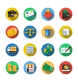 Sixteen Different Icons in a Flat Style vector image vector image