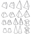 solid geometry vector image vector image