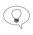 speech bubbles with bulb vector image vector image