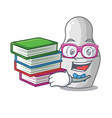 student with book nesting doll russian matryoshka vector image