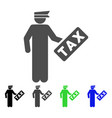 tax officer icon vector image