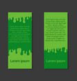 template letterhead flyers with paint smudges and vector image