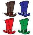 top hats vector image vector image
