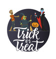 trick or treat - modern colorful poster vector image