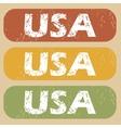Vintage USA stamp set vector image vector image