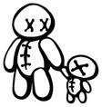 voodoo doll parent vector image vector image