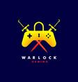 warlock e-sport mascot logo design vector image