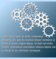white gears infographics on dark blue background vector image vector image