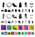 women s clothing flat icons in set collection for vector image vector image