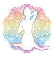 women silhouette cow face yoga pose gomukhasana vector image