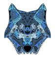 wolf head zentangle stylized vector image