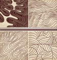 4 patterns set vector image vector image