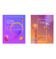 abstract background with gradient waves and vector image vector image