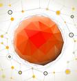 Abstract geometric mosaic ball vector image vector image