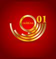 abstract golden branding logo background vector image vector image
