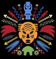 African Abstract Tribal vector image vector image