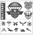 Air Force military emblem set design vector image vector image