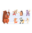 animals musicians wild cartoon zoo animals vector image vector image