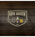 Beer garden badges logos and labels for any use vector image vector image