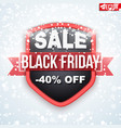 black friday sale badge and label vector image vector image