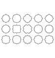 blank vintage card frame label retro price tag set vector image vector image