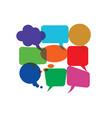 bubbles header color communication vector image vector image