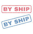 by ship textile stamps vector image vector image