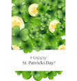 Clover and gold coins vector image vector image