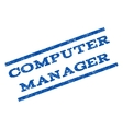 Computer Manager Watermark Stamp vector image