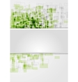 Corporate shiny tech squares design vector image vector image
