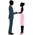 couple lovers bride and groom holding hands vector image vector image