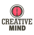 creative mind logo flat style vector image