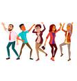 dancing people set happy dancer poses vector image