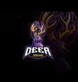 deer mascot sport logo design vector image vector image