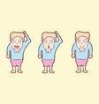 digitally drawn casual man character design hand vector image