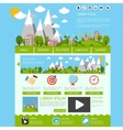 Eco website template vector image vector image