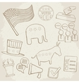 Election hand drawn icons vector image vector image
