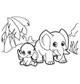 elephant cartoon coloring pages vector image vector image