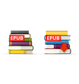 EPUB books stacks icons vector image vector image