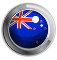 flag of new zealand in round icon vector image vector image