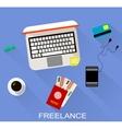 Flat design of freelance vector image