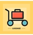 flat luggage icon vector image vector image