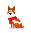 funny cartoon dog portrait happy smiling puppy vector image