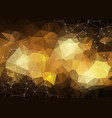 gold geometric low poly background shiny metallic vector image