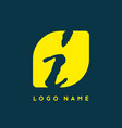 grunge style i initial letter logo template vector image vector image